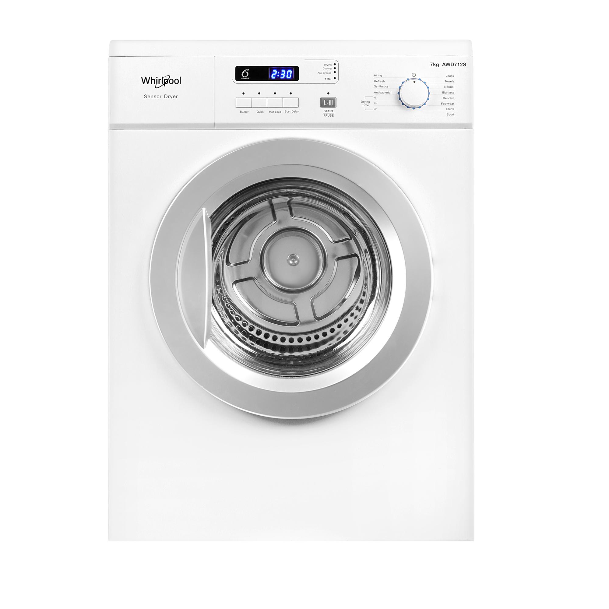 7kg, Air-Vented Dryer | Whirlpool Singapore | Home appliances | Kitchen  appliances | Electrical Appliances